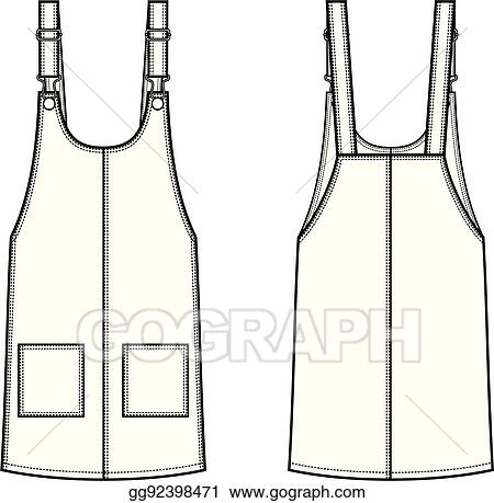 fb50c3692633 Vector Clipart - Overall dress. Vector Illustration gg92398471 - GoGraph