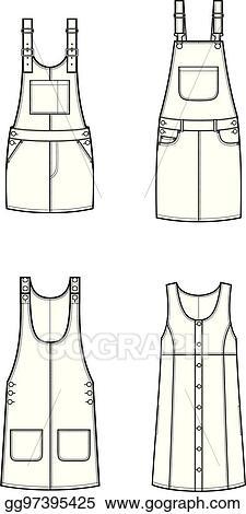 2d1b38973b67 Vector Clipart - Overall dress. Vector Illustration gg97395425 - GoGraph