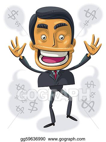 Vector Art - Overjoyed busines...