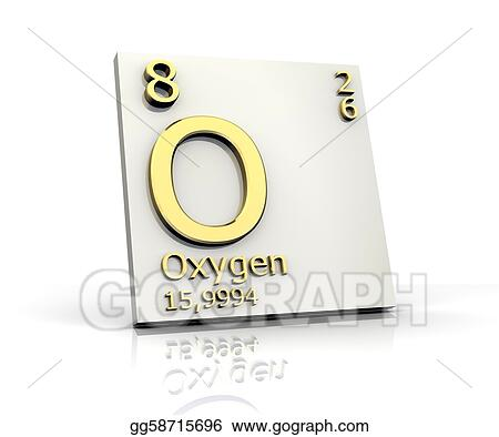 Stock illustration oxygen form periodic table of elements oxygen form periodic table of elements urtaz Images