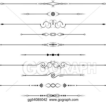 Vector art page decorations clipart drawing gg54085042 for Drawing decoration ideas