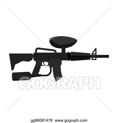 Vector Clipart Paintball Gun Isolated Sports Weapons Play Rifle Vector Illustration Gg96081478 Gograph