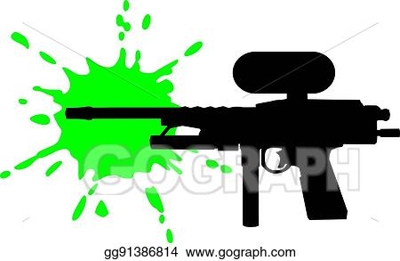 vector stock paintball gun with green splash clipart illustration rh gograph com paintball clip art pictures paintball clip art pictures