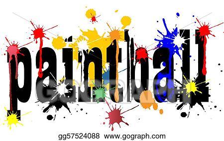 stock illustration paintball logo clip art gg57524088 gograph rh gograph com paintball bogota army pagina paintball bogota sur