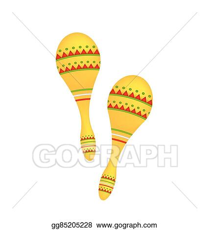 vector stock pair colorful maracas isolated on white background