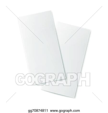 vector art pair of blank bifold paper brochures clipart drawing