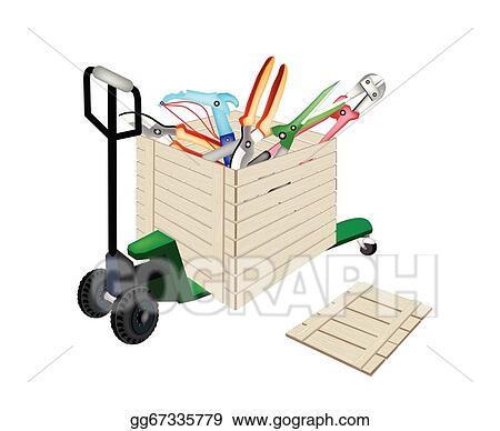 Vector Stock Pallet Truck Loading Craft Tools In Shipping Box