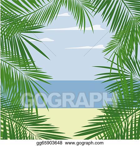 Vector Illustration Palm Leaves Frame Eps Clipart Gg65903648