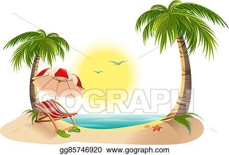 Palm Tree Beach Umbrella