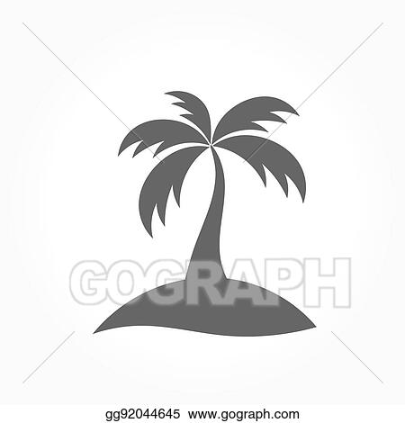 Vector Art Palm Tree Icon Clipart Drawing Gg92044645 Gograph