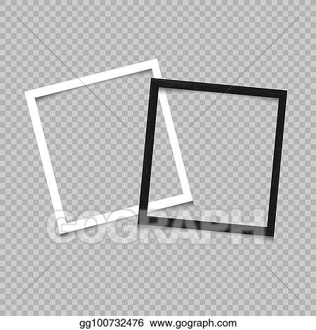 Clip Art Vector - Paper and wooden square frame. Stock EPS ...