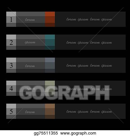 clip art vector paper banners template for infographics business