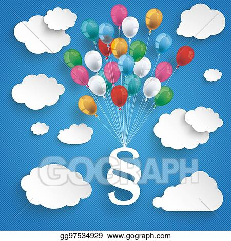 paper clouds striped blue sky balloons paragraph