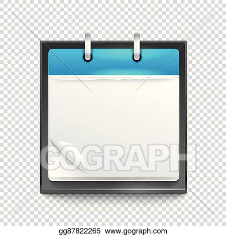 Vector Art - Paper diary on transparent background. template for a ...