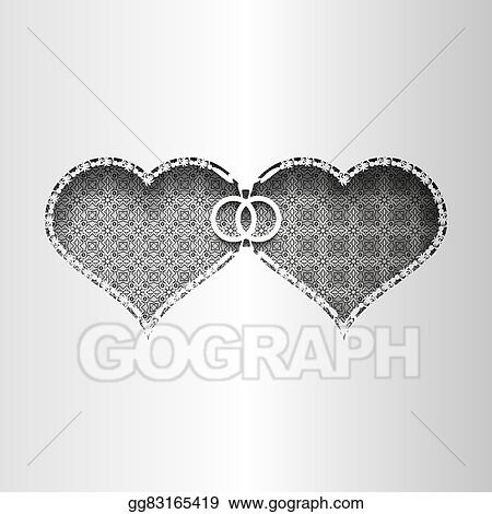 vector illustration paper lace greeting card wedding card for