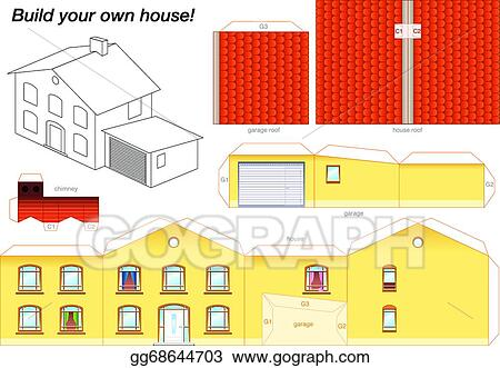 Marvelous Paper Model House Yellow