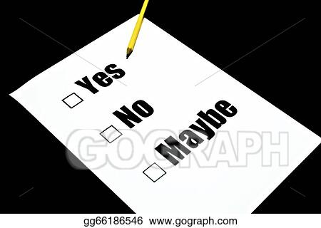 drawing paper questionnaire yes no maybe clipart drawing