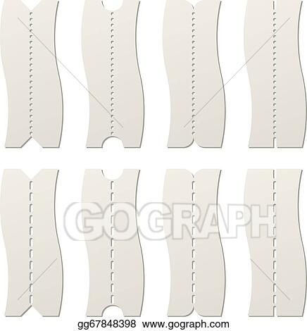 Vector Clipart - Paper tear off perforated line template vector ...