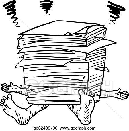 vector stock paperwork stress sketch clipart illustration rh gograph com paperwork clipart free paperwork clipart free