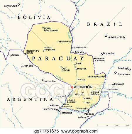 EPS Illustration - Paraguay political map. Vector Clipart gg71751675 ...
