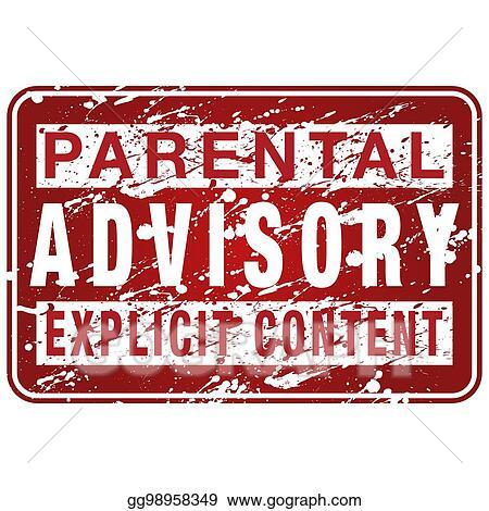 Parental advisory label. Vector illustration sign stock