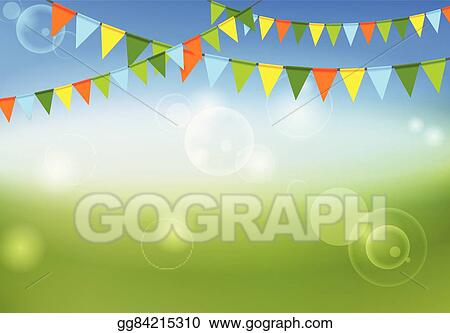 Vector Illustration - Party flags celebrate abstract background and