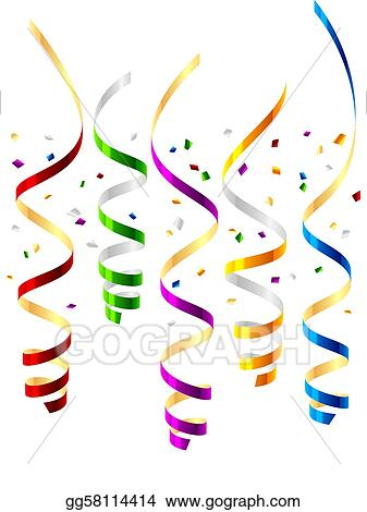 vector art party streamers clipart drawing gg58114414 gograph rh gograph com streamers clipart streamers clipart