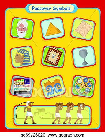 Vector Stock Passover Symbols Stock Clip Art Gg69726020 Gograph