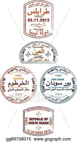 Vector Art - Passport stamps  EPS clipart gg66758015 - GoGraph