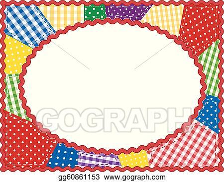 Vector Illustration - Patchwork quilt frame. EPS Clipart gg60861153 ...