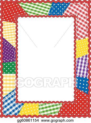 Vector Illustration - Patchwork quilt frame. EPS Clipart gg60861154 ...