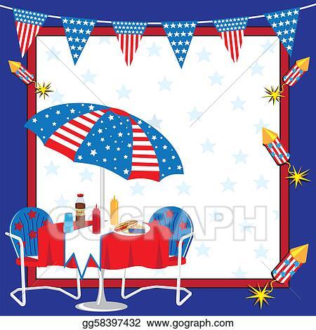 Vector clipart patriotic picnic invitation vector illustration patriotic picnic invitation stopboris Choice Image