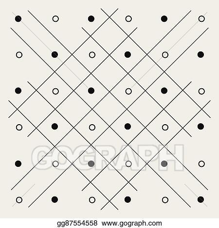 Vector Art - Pattern geometric seamless monochrome