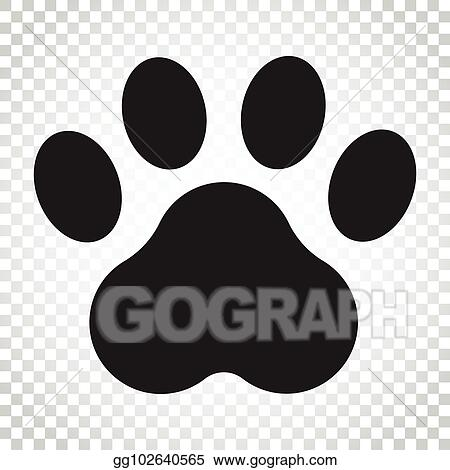 6cf0113f09d5 Paw print vector icon. Dog or cat pawprint illustration. Animal silhouette.  Simple business concept pictogram on isolated background.