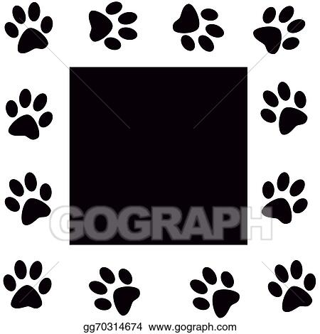 Drawing Paw Print Clipart Drawing Gg70314674 Gograph