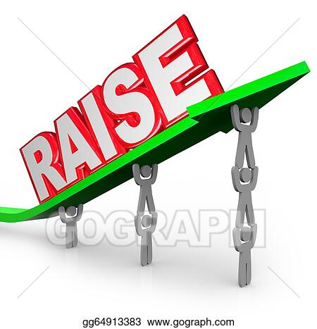 clipart pay raise word increased income workers lift arrow stock rh gograph com Pay Increase Clip Art Pay Increase Clip Art