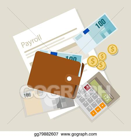 Clip Art Vector - Payroll salary accounting payment wages