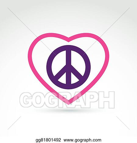 Vector Stock Peace And Love Theme Antiwar And Love Vector Icons