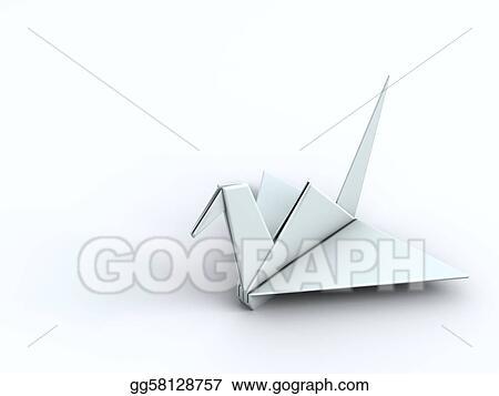 Peace Concept Origami Crane Paper Bird