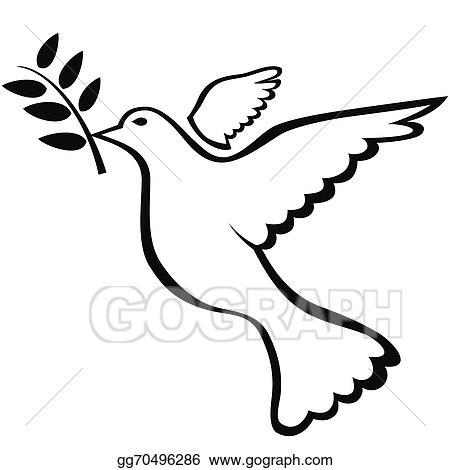 vector art peace dove symbol eps clipart gg70496286 gograph rh gograph com peace dove clip art free peace on earth dove clip art