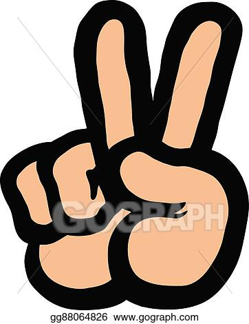 Vector Clipart Peace Sign Hand Vector Illustration Gg88064826