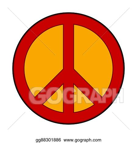 Vector Art Peace Symbol Sign Clipart Drawing Gg88301886 Gograph