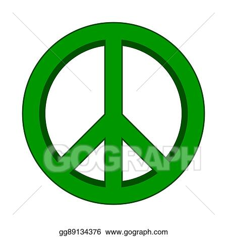 Vector Art Peace Symbol Sign Clipart Drawing Gg89134376 Gograph