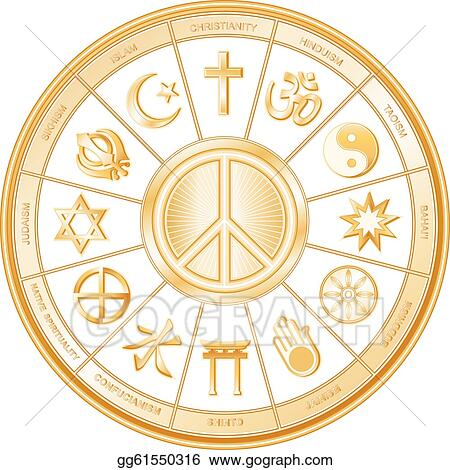 Vector Stock Peace Symbol World Religions Stock Clip Art