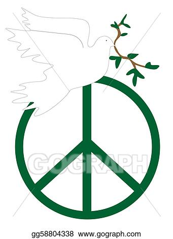 Vector Stock Peace Symbol Clipart Illustration Gg58804338 Gograph