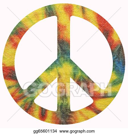Stock Illustration Peace Symbol Clipart Drawing Gg65601134 Gograph