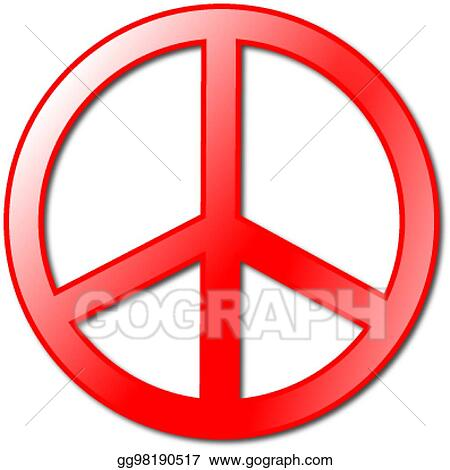 9254ce855 Vector Art - Peace symbol. Clipart Drawing gg98190517 - GoGraph