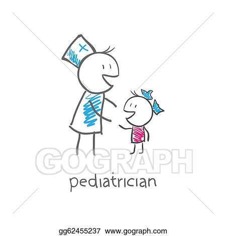vector clipart pediatrician with child vector illustration rh gograph com pediatrician symbol clipart pediatrician clipart pictures