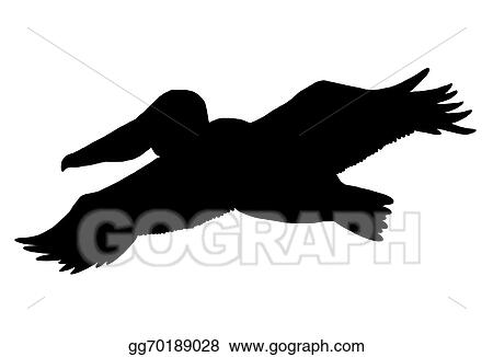 stock illustration - pelican silhouette. clip art gg70189028 - gograph