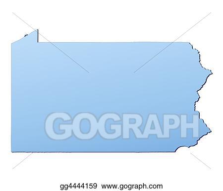 Stock Illustration Pennsylvania Usa Map Clipart Illustrations